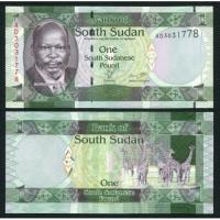 Billete Sudan del Sur 1 Pound 2011 - Numisfila
