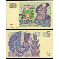 Billete Suecia 5 Kronor 1977 - Numisfila