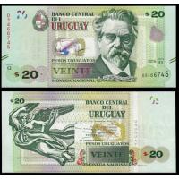 Billete Uruguay 20 Pesos Uruguayos 2017 - Numisfila