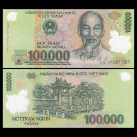 Billete Plastico Vietnam 100.000 Dong 2014 - Numisfila