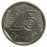 Moneda Brasil 25 Centavos 1994-1995 - Numisfila