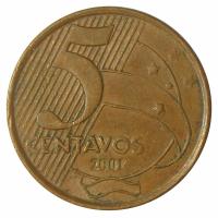 Moneda Brasil 5 Centavos 1998-2013 - Numisfila