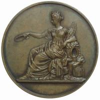 Medalla Francia Arquitecto Jean-Augustin Renard - Libertad - Numisfila
