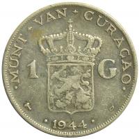 Moneda Curazao 1 Gulden 1944 - Numisfila