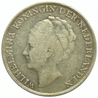 Moneda Curazao 1 Gulden 1944 Reina Wilhelmina - Numisfila