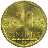 Moneda Peru 20 Centimos 2001-2009 - Numisfila