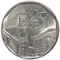 Moneda Cuba 25 Centavos 1998-2003 - Numisfila