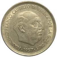 Moneda España 50 Pesetas 1957 Francisco Franco - Numisfila