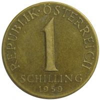 Moneda Austria 1 Schilling 1959-1971 - Numisfila