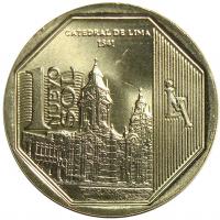 Moneda Peru 1 Nuevo Sol 2014 Catedral Lima - Numisfila