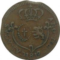 Moneda Caracas ¼ Real 1817 Error 7 sobre 8 - Numisfila