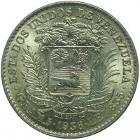 Bella Moneda Plata 1 Bolivar de 1936 - Numisfila