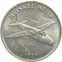 Medalla Shell Serie Vuelos Históricos Heinkel HE178 - Numisfila