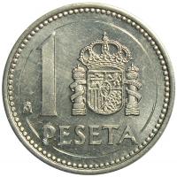 Moneda España 1 Peseta 1985-1989 Carlos I - Numisfila