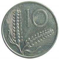 Moneda Italia 10 Liras 1951-1981 Trigo - Numisfila