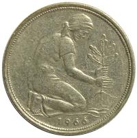Moneda Alemania Federal 50 Pfennig 1950-71  - Numisfila