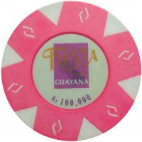 Ficha Fiesta Casino Guayana 100.000 Bolivares - Numisfila