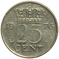 Moneda Holanda 25 Centavos 1950-1980 Reina Juliana - Numisfila