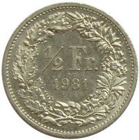 Moneda Suiza ½ Franco 1983-1998 - Numisfila