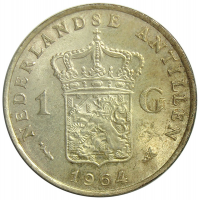 Moneda Antillas Holandesas 1 Gulden 1952-1970 - Numisfila