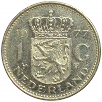 Moneda Holanda 1 Gulden 1967-1977 Reina Juliana - Numisfila