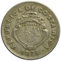 Moneda Costa Rica 5 Céntimos 1972-76 - Numisfila