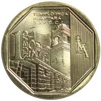 Moneda Peru 1 Nuevo Sol de 2013 Templo Inca de Huaytará - Numisfila