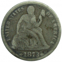 Moneda Plata Estados Unidos 1 Dime 1873 - Numisfila