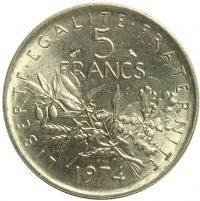 Moneda Francia 5 Francs 1970-1995 - Numisfila