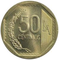 Moneda Peru 50 Centimos 2001-2009 - Numisfila