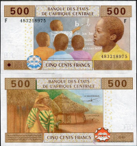 Billete África Central 500 Francs 2002 (2017) - Numisfila