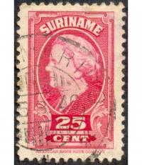 Estampilla Suriname 25 Céntimos 1945 - Numisfila