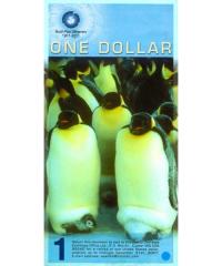 Billete Plastico Antártica 1 Dólar 2008 -  2011 Pinguinos - Numisfila