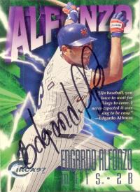 Barajita Autografiada Edgardo Alfonzo Circa 1997 - Numisfila
