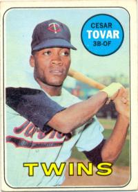 Barajita Cesar Tovar Topps 1969 # 530 - Numisfila