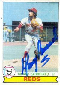 Barajita Autografiada Manny Sarmiento Topps 1979 - Numisfila