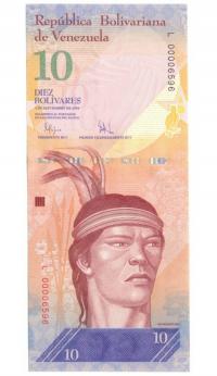 Billete 10 Bolívares 2009 Serial Bajo L00006596 - Numisfila