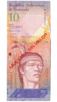 Muestra Sin Valor Billete 10 Bolívares 2007 #1901 - Numisfila