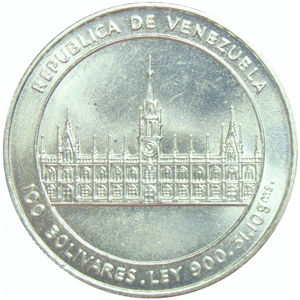100 Bolívares, año 1986 Bicentenario del Nacimiento de José María Vargas  - Numisfila
