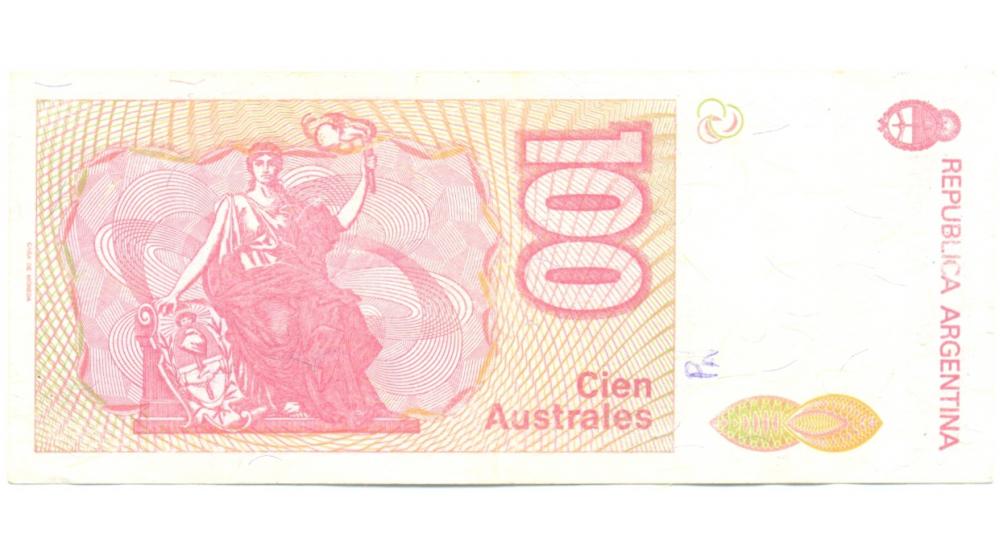 Billete Argentina 100 Australes de 1985  - Numisfila