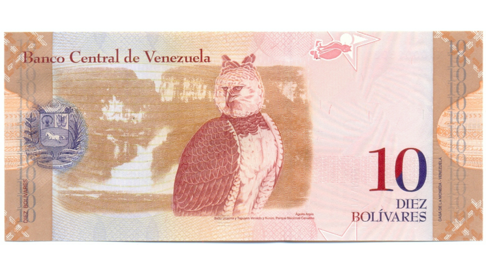 Billete 10 Bolívares 2009 Serial N00018081  - Numisfila