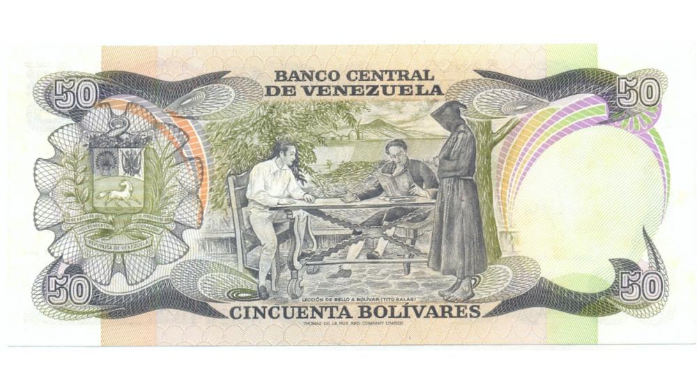 Billete 50 Bolívares 1981 Serial A44446271 Conmemorativo  - Numisfila