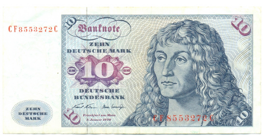 Billete Alemania 10 Mark de 1970 Albert Durer  - Numisfila