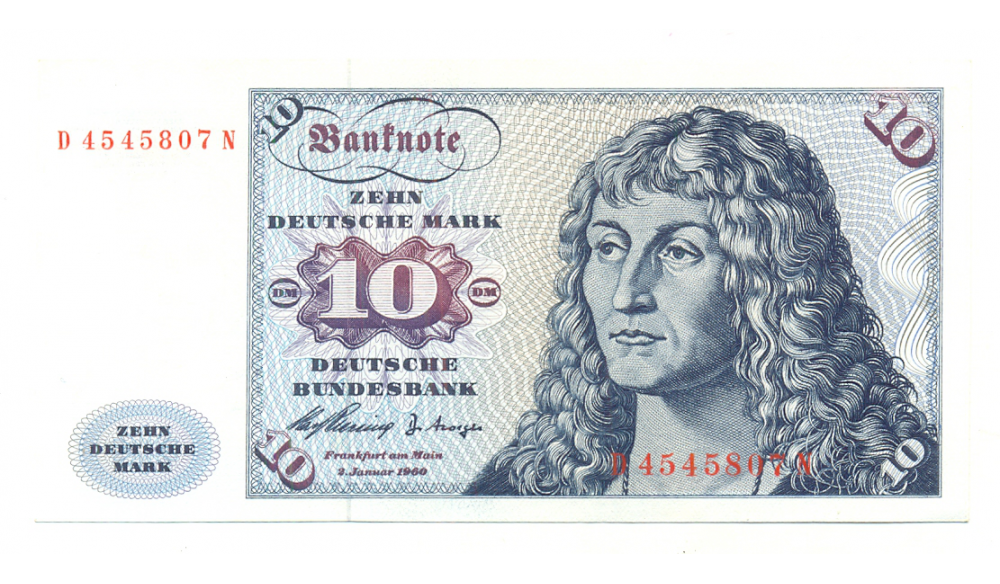 Billete de Alemania, República Federal, 10 Mark de 1970  - Numisfila