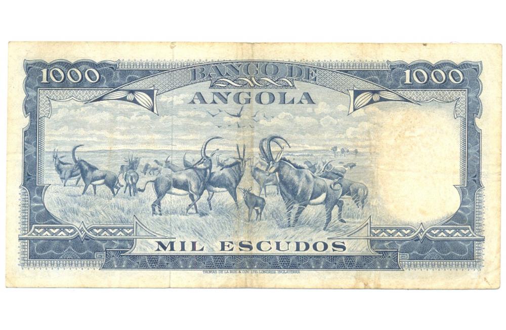 Billete Angola 1.000 Escudos de 1970  - Numisfila