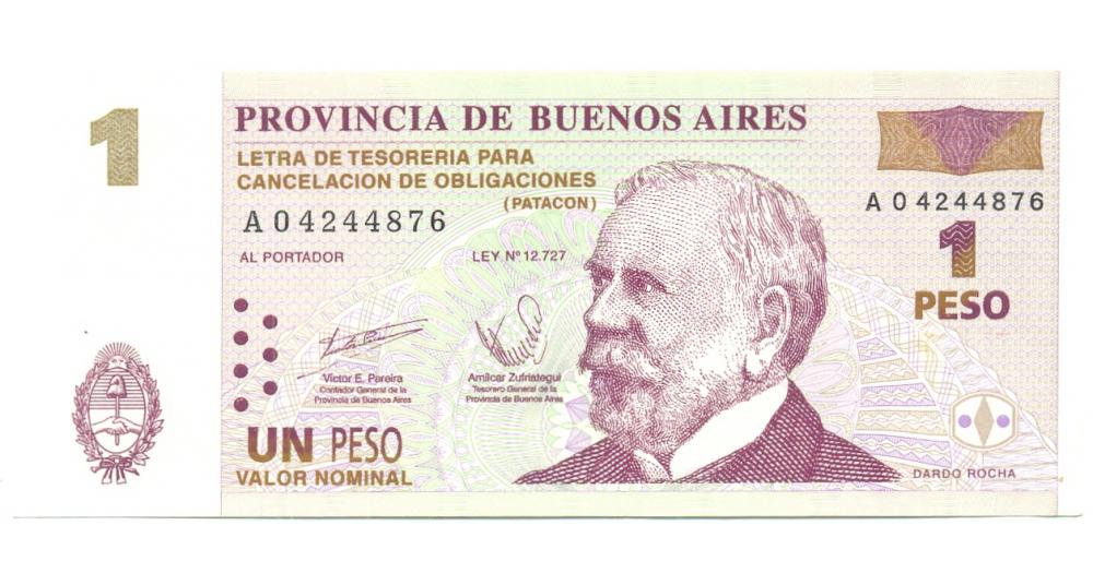 Billete de Argentina, Bono de Cancelación de 1 Peso (Patacon), 1985-2002  - Numisfila