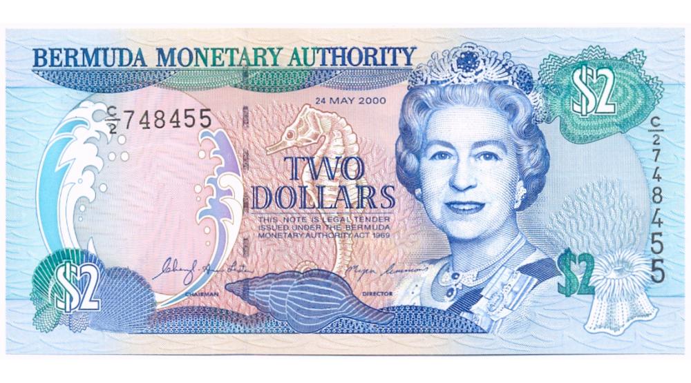 Billete de Bermudas 2 Dólares de 2000  - Numisfila