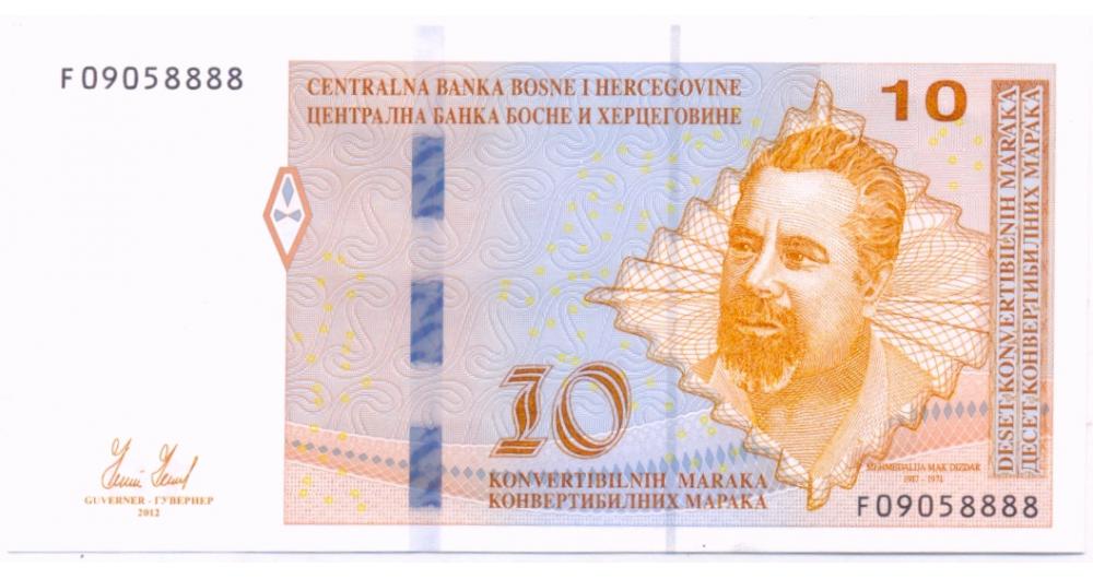 Billete de Bosnia y Herzegovina 10 Maraka Convertible 2012  - Numisfila