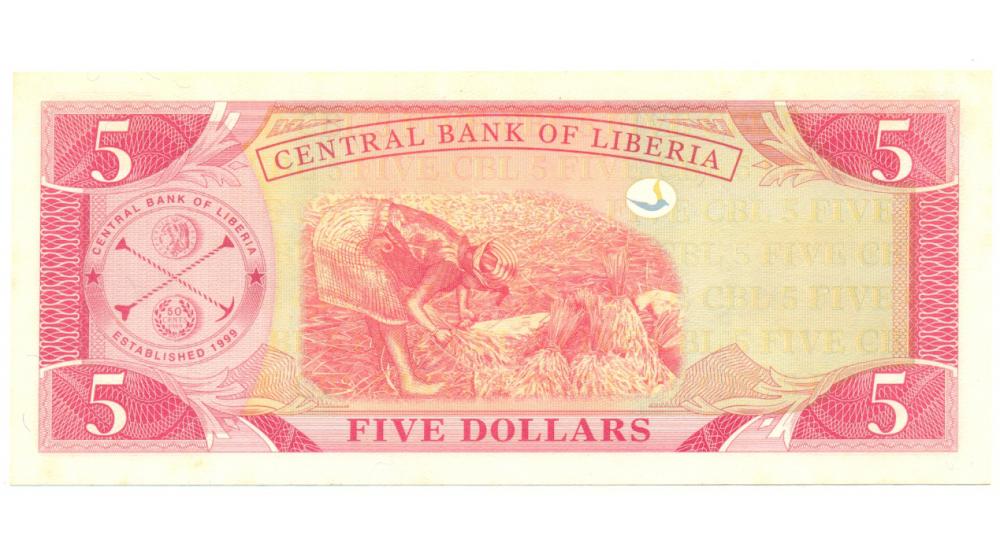 Billete de Liberia 5 Dólares de 2006  - Numisfila