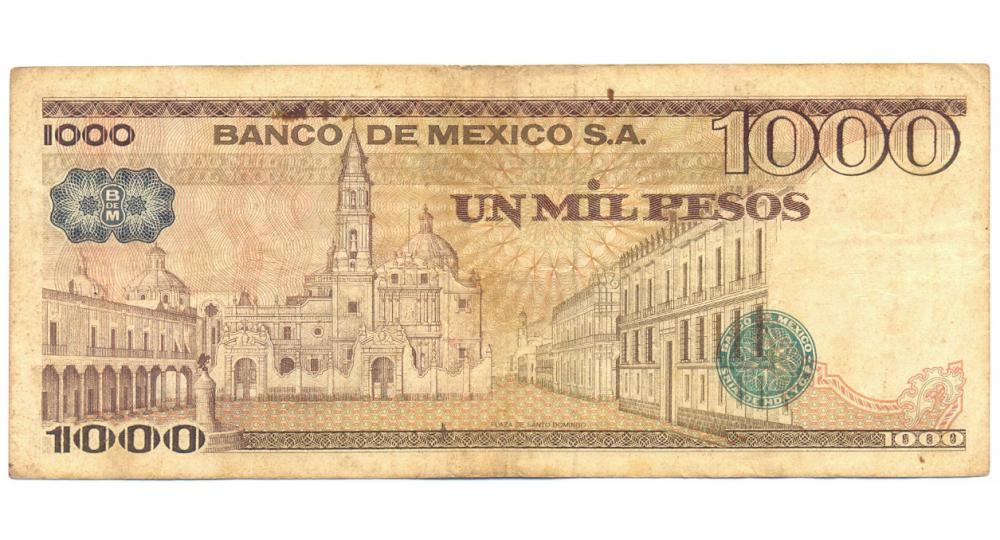 Billete de México 1.000 Pesos de 1981  - Numisfila